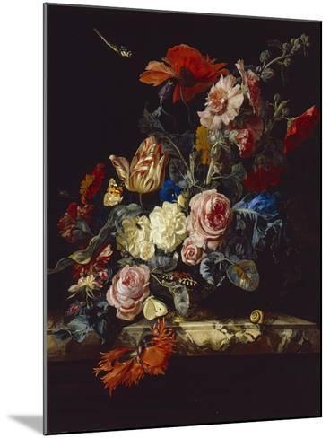 A Vase of Flowers, 1663-Willem van Aelst-Mounted Giclee Print