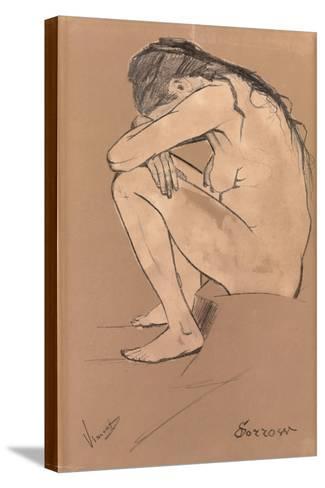 Sorrow, 1882-Vincent van Gogh-Stretched Canvas Print