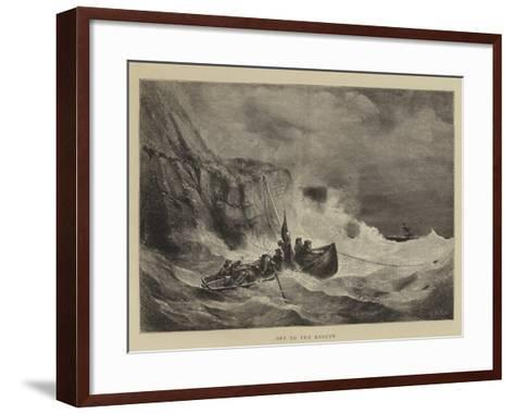 Off to the Rescue-Walter William May-Framed Art Print