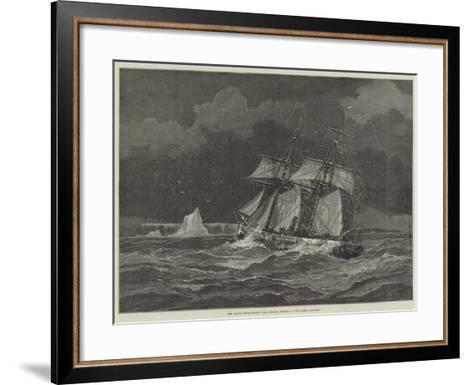 The Arctic Expeditions, the Pandora Beating Up for Carey Islands-Walter William May-Framed Art Print