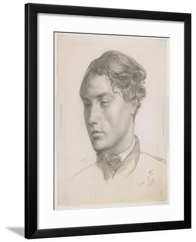 Portrait of a Young Man, 1860-Valentine Cameron Prinsep-Framed Art Print