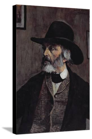 Portrait of Thomas Carlyle (1795-1881) C.1879-Walter Greaves-Stretched Canvas Print