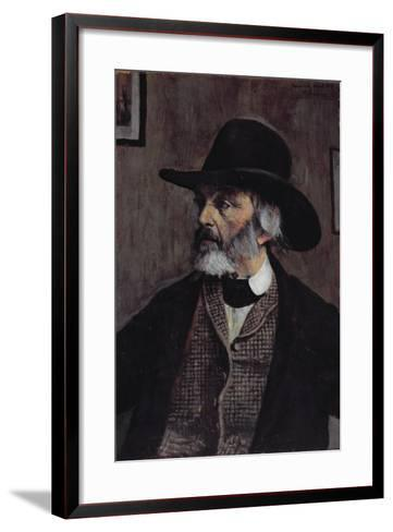 Portrait of Thomas Carlyle (1795-1881) C.1879-Walter Greaves-Framed Art Print