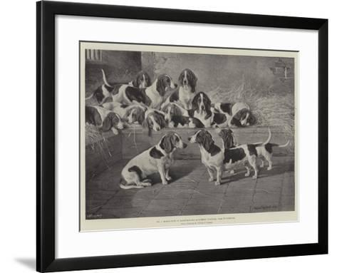 Mr J Moss's Pack of Basset-Hounds at Bishops Waltham, Near Winchester-Valentine Thomas Garland-Framed Art Print