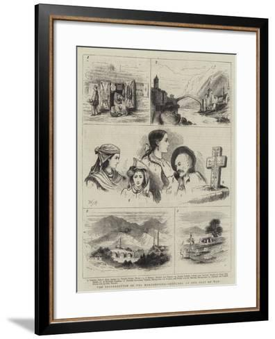 The Insurrection in the Herzegovina, Sketches at the Seat of War-Walter Jenks Morgan-Framed Art Print