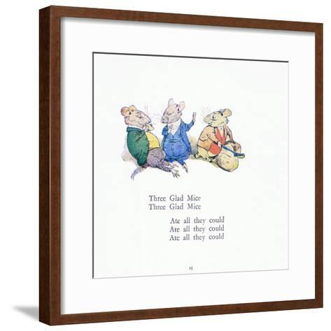 Three Glad Mice, Three Glad Mice, Ate All That They Could-Walton Corbould-Framed Art Print