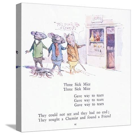 Three Sick Mice, Three Sick Mice, Gave Way to Tears-Walton Corbould-Stretched Canvas Print