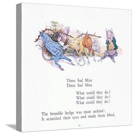 Three Sad Mice, Three Sad Mice, What Could They Say-Walton Corbould-Stretched Canvas Print