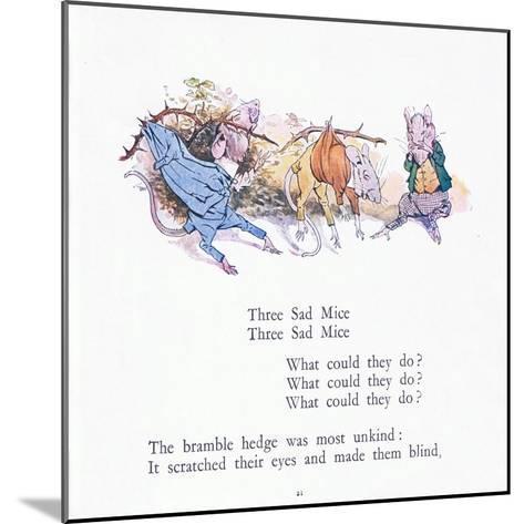 Three Sad Mice, Three Sad Mice, What Could They Say-Walton Corbould-Mounted Giclee Print
