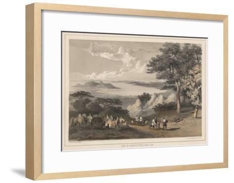 View of Hakodadi from Snow Peak, 1855-Wilhelm Joseph Heine-Framed Art Print