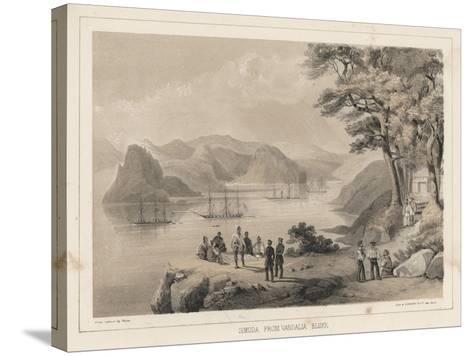 Simoda from Vandalia Bluff, 1855-Wilhelm Joseph Heine-Stretched Canvas Print