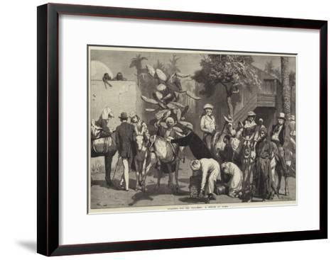Starting for the Pyramids, a Sketch at Cairo-Valentine Walter Lewis Bromley-Framed Art Print