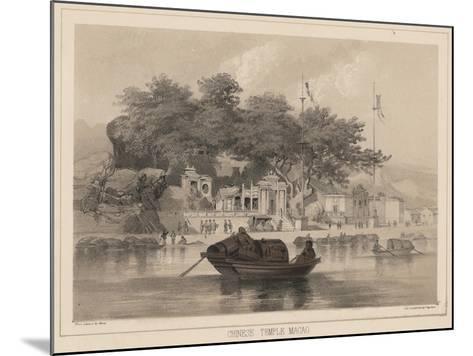 Chinese Temple, Macao, 1855-Wilhelm Joseph Heine-Mounted Giclee Print