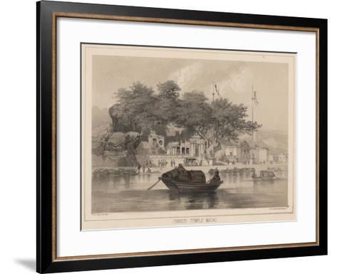 Chinese Temple, Macao, 1855-Wilhelm Joseph Heine-Framed Art Print