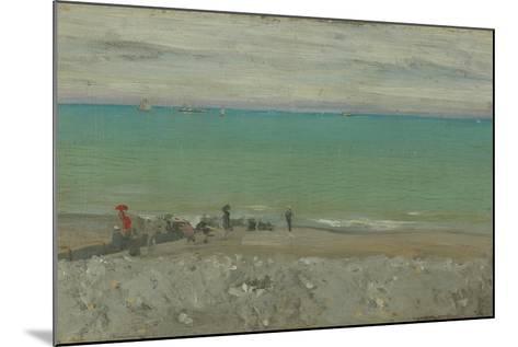 La Plage, Dieppe, C.1885-Walter Richard Sickert-Mounted Giclee Print