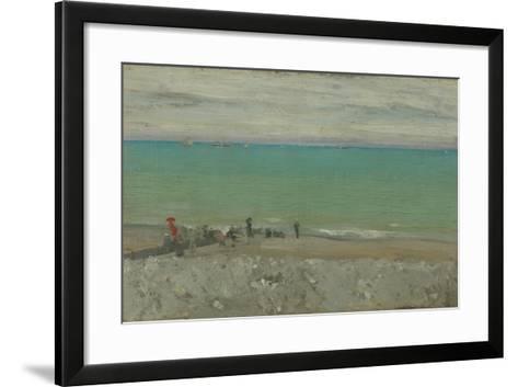 La Plage, Dieppe, C.1885-Walter Richard Sickert-Framed Art Print