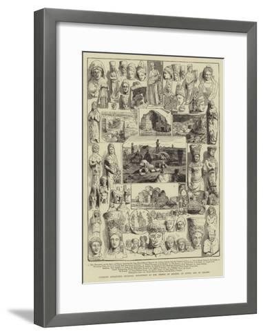 Cypriote Antiquities Recently Discovered at the Temple of Artemis, at Achna and at Salamis- Warry-Framed Art Print