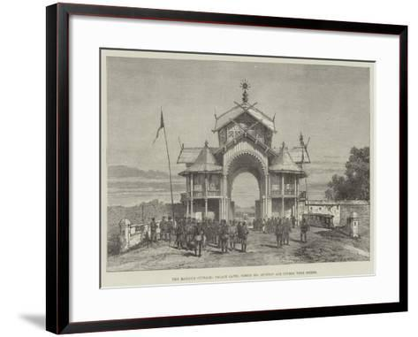 The Manipur Outrage, Palace Gates, Where Mr Quinton and Others Were Seized- Warry-Framed Art Print