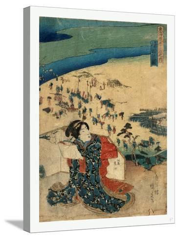 Shimada No Zu-Utagawa Toyokuni-Stretched Canvas Print