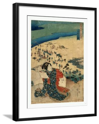 Shimada No Zu-Utagawa Toyokuni-Framed Art Print