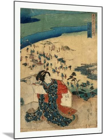 Shimada No Zu-Utagawa Toyokuni-Mounted Giclee Print