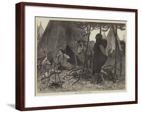 American Sketches, an Indian Courtship-Valentine Walter Lewis Bromley-Framed Art Print