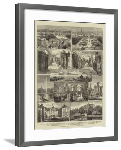 The Royal Wedding at Carlsruhe- Warry-Framed Art Print