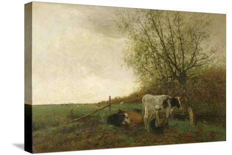 Milking Time-Willem Maris-Stretched Canvas Print