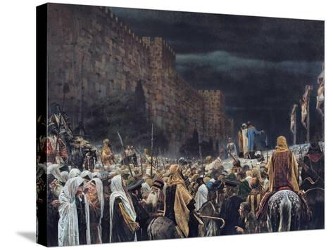 Crucifixion by the Romans, 1887-Vasili Vasilievich Vereshchagin-Stretched Canvas Print