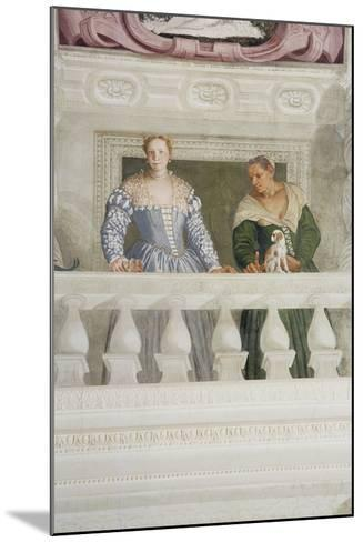 Members of the Barbaro Household, from the Sala Di Olimpo, C.1561 (Detail)-Veronese-Mounted Giclee Print