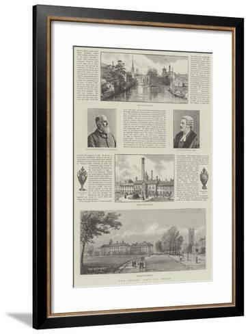 The Queen's Visit to Derby- Warry-Framed Art Print
