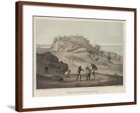 Ancient Castle of Na-Ga-Gus-Ko, Lew Chew, 1855-Wilhelm Joseph Heine-Framed Art Print