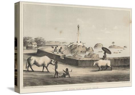 Light House, Point De Galle, Ceylon, 1855-Wilhelm Joseph Heine-Stretched Canvas Print