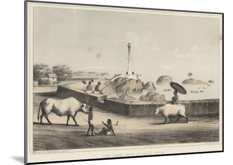 Light House, Point De Galle, Ceylon, 1855-Wilhelm Joseph Heine-Mounted Giclee Print
