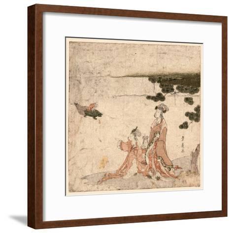 Saru No Ikigimo-Utagawa Toyohiro-Framed Art Print