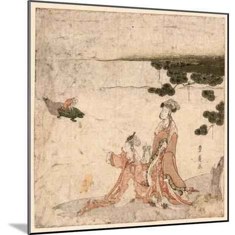 Saru No Ikigimo-Utagawa Toyohiro-Mounted Giclee Print