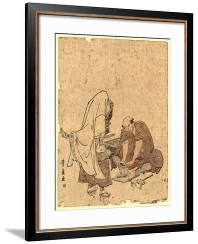Ushjiwakamaru No Takageta Naoshi-Utagawa Toyohiro-Framed Art Print