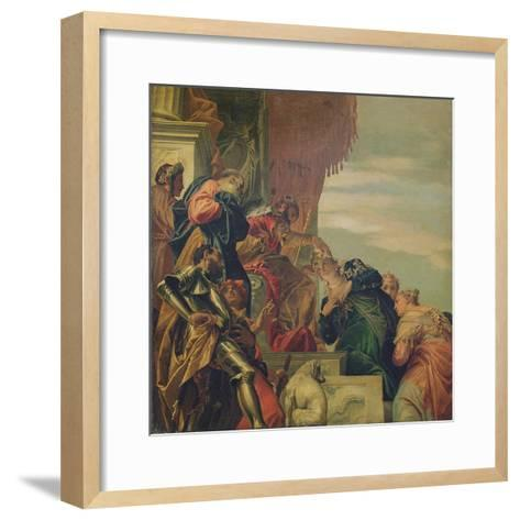 King Ahasuerus Crowns Esther, 1556-Veronese-Framed Art Print