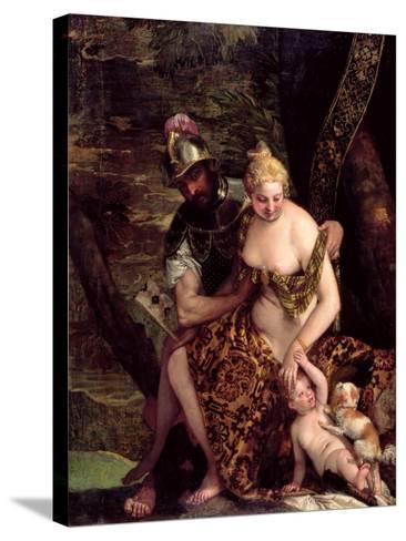Venus, Cupid and Mars-Veronese-Stretched Canvas Print