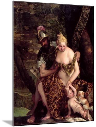 Venus, Cupid and Mars-Veronese-Mounted Giclee Print