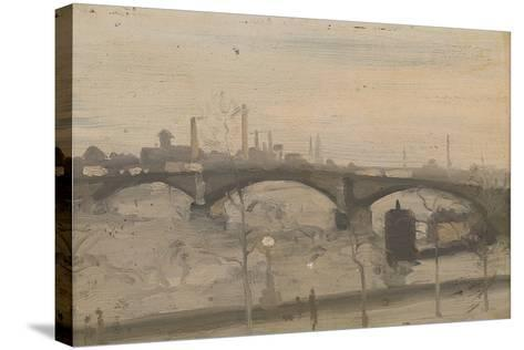 The Thames at Chelsea-William Evelyn Osbourne-Stretched Canvas Print
