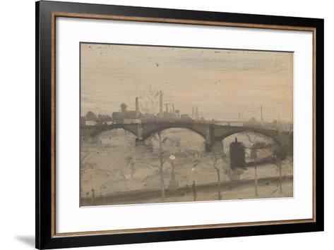 The Thames at Chelsea-William Evelyn Osbourne-Framed Art Print