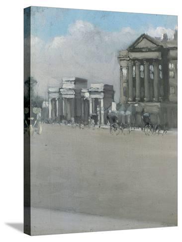 Hyde Park Corner in Fog-William Evelyn Osbourne-Stretched Canvas Print