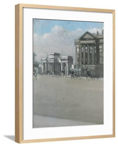 Hyde Park Corner in Fog-William Evelyn Osbourne-Framed Art Print