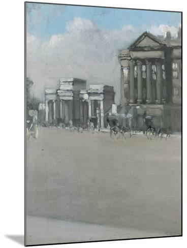 Hyde Park Corner in Fog-William Evelyn Osbourne-Mounted Giclee Print