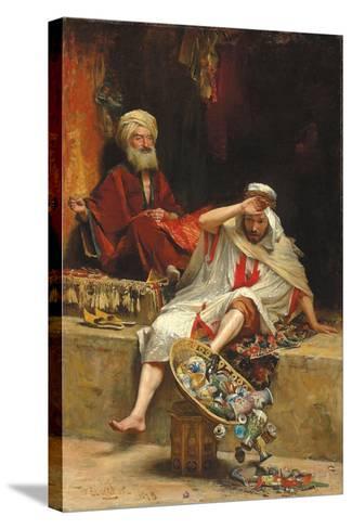 Alnaschar's Fortune, Arabian Nights, 1879-William Ewart Lockhart-Stretched Canvas Print