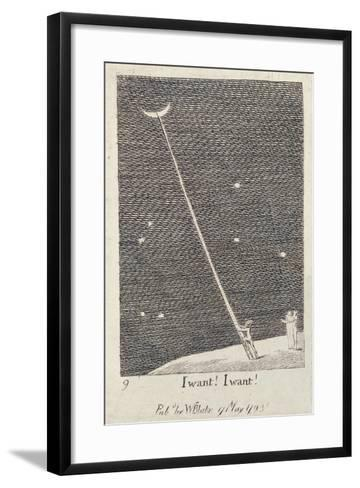 I Want! I Want!, from 'For the Sexes: the Gates of Paradise', 1793 (Line)-William Blake-Framed Art Print
