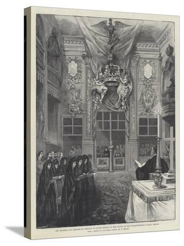 The Emperor and Empress of Germany at Divine Service in the Chapel of the Charlottenburg Palace-William 'Crimea' Simpson-Stretched Canvas Print