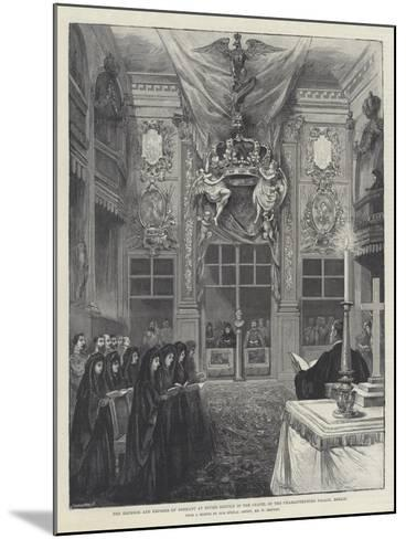 The Emperor and Empress of Germany at Divine Service in the Chapel of the Charlottenburg Palace-William 'Crimea' Simpson-Mounted Giclee Print