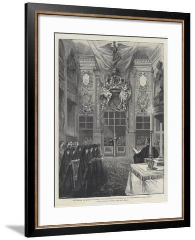 The Emperor and Empress of Germany at Divine Service in the Chapel of the Charlottenburg Palace-William 'Crimea' Simpson-Framed Art Print